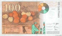 100 Francs CÉZANNE sans STRAP FRANCE  1997 F.74bis.01 SUP