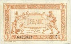 1 Franc TRÉSORERIE AUX ARMÉES FRANCE  1917 VF.03.04 SPL