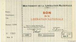 5000 Francs FRANCE régionalisme et divers  1944 - SPL
