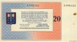 20 Francs FRANCE régionalisme et divers  1941 - SPL