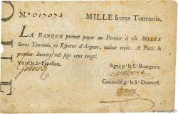 1000 Livres Tournois FRANCE  1720 Dor.29 TB à TTB