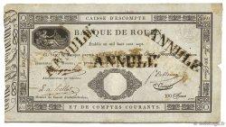 100 Francs Banque de Rouen FRANCE  1807 PS.177 TB
