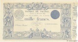1000 Francs type 1862 FRANCE  1863 F.A36.00 NEUF