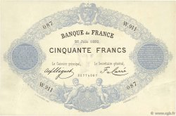 50 Francs type 1868 Indices Noirs FRANCE  1882 F.A38.12 SUP