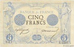 5 Francs NOIR FRANCE  1873 F.01.16 TTB à SUP