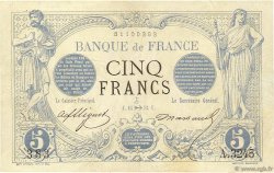 5 Francs NOIR FRANCE  1873 F.01ter.01 TTB+