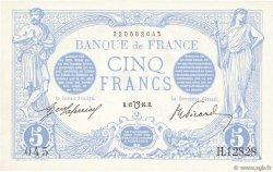 5 Francs BLEU lion inversé FRANCE  1917 F.02bis.04 SPL