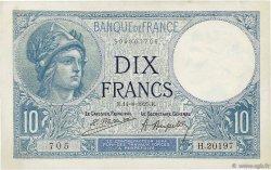 10 Francs MINERVE FRANCE  1925 F.06.09 SUP à SPL