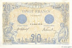 20 Francs BLEU FRANCE  1913 F.10.03 TTB à SUP
