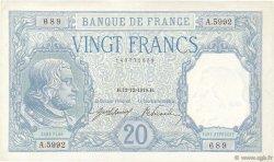 20 Francs BAYARD FRANCE  1918 F.11.03 SUP à SPL