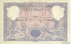100 Francs BLEU ET ROSE FRANCE  1899 F.21.12 TTB