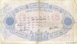 500 Francs BLEU ET ROSE modifié FRANCE  1938 F.31.07 TB