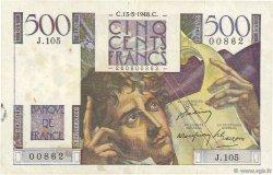 500 Francs CHATEAUBRIAND FRANCE  1948 F.34.08 TB