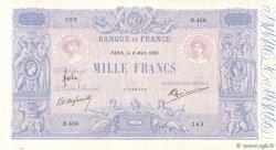 1000 Francs BLEU ET ROSE FRANCE  1903 F.36.17 SUP