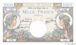 1000 Francs COMMERCE ET INDUSTRIE FRANCE  1940 F.39.01 NEUF