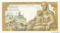 1000 Francs DÉESSE DÉMÉTER FRANCE  1944 F.40.42 pr.NEUF