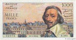 1000 Francs RICHELIEU FRANCE  1956 F.42.20 SUP+