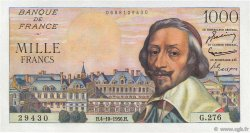 1000 Francs RICHELIEU FRANCE  1956 F.42.22 pr.SPL