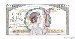 5000 Francs VICTOIRE Impression à plat FRANCE  1938 F.46.00 NEUF