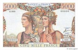 5000 Francs TERRE ET MER FRANCE  1949 F.48.00 NEUF