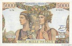5000 Francs TERRE ET MER FRANCE  1951 F.48.05 pr.NEUF
