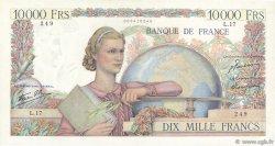 10000 Francs GÉNIE FRANÇAIS FRANCE  1945 F.50.01 SUP
