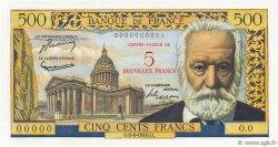 5 NF sur 500 Francs Victor HUGO FRANCE  1958 F.52.00s1 NEUF