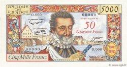 50 NF sur 5000 Francs HENRI IV FRANCE  1958 F.54.00e1 NEUF