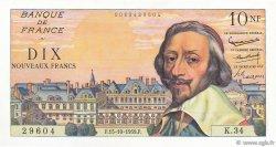 10 Nouveaux Francs RICHELIEU FRANCE  1959 F.57.03 NEUF
