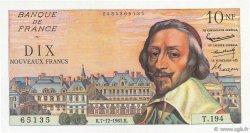 10 Nouveaux Francs RICHELIEU FRANCE  1961 F.57.16 SUP+