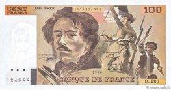 100 Francs DELACROIX imprimé en continu FRANCE  1990 F.69bis.02d NEUF