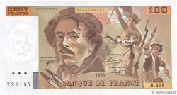 100 Francs DELACROIX 442-1 & 442-2 FRANCE  1995 F.69ter.02d SUP+