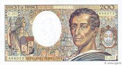 200 Francs MONTESQUIEU alphabet 101 FRANCE  1992 F.70bis.01 pr.NEUF