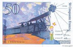50 Francs SAINT-EXUPÉRY mouton en haut FRANCE  1992 F.72bis.01 pr.NEUF