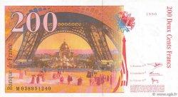 200 Francs EIFFEL sans STRAP FRANCE  1996 F.75bis.03 SPL