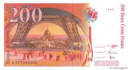 200 Francs EIFFEL pont coupé en deux FRANCE  1999 F.75ter.02 NEUF