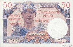 50 Francs TRÉSOR FRANÇAIS FRANCE  1947 VF.31.01 NEUF