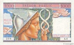 1000 Francs TRÉSOR PUBLIC FRANCE  1955 VF.35.01 SUP+