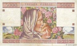 50NF sur 5000 Francs TRÉSOR PUBLIC FRANCE  1960 VF.39.01 pr.TTB