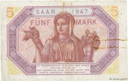 5 Mark SARRE FRANCE  1947 VF.46.01 pr.TTB