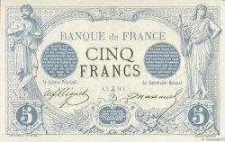 5 Francs NOIR essai avec filigrane FRANCE  1872 F.01.00 NEUF