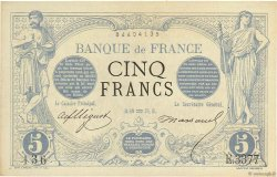 5 Francs NOIR FRANCE  1874 F.01.25 SUP+