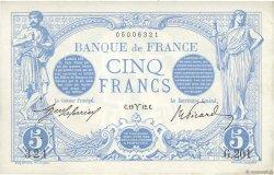 5 Francs BLEU FRANCE  1912 F.02.03 TTB+