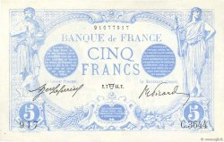 5 Francs BLEU FRANCE  1914 F.02.22 SUP