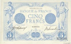 5 Francs BLEU FRANCE  1917 F.02.47 SPL+