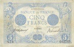 5 Francs BLEU lion inversé FRANCE  1916 F.02bis.04 TB