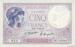 5 Francs VIOLET FRANCE  1923 F.03.07 SPL