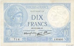 10 Francs MINERVE modifié FRANCE  1942 F.07.31 TB+