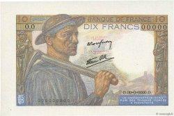10 Francs MINEUR FRANCE  1941 F.08.00s3 SPL