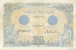 20 Francs BLEU FRANCE  1912 F.10.02 TTB+